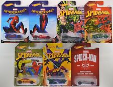 2017 Hot Wheels: SPIDER-MAN - Walmart Exclusive - COMPLETE 7 Car Set w/ CHASE