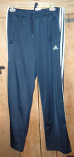 ADIDAS Mens 3 White Stripes Navy Blue Track Pants Athletic Running Jogging M