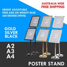 A2 A3 A4 Floor Poster Stand Foyer Pedestal Holder Business Menu Display