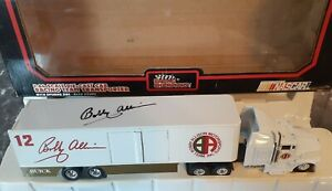 Racing Champions NASCAR Bobby Allison 1:64 Scale Die-Cast Cab Transporter SIgned