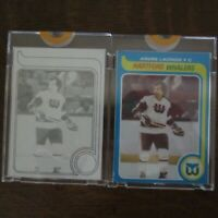 Pair Of 1979-80 Topps Vault ANDRE LACROIX 107 NHL Hockey Proof Cards COA Rare