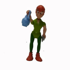 """2.5"""" DISNEY PETER PAN PVC FIGURE ANIMATED CARTOON Toy with Sword Accessories"""
