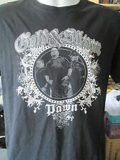 PAWN STARS GOLD & SILVER CHARACTER T SHIRT BLACK & SILVER & WHITE SZ MED (LOOK)