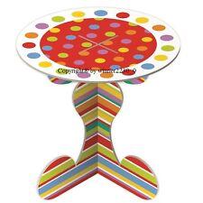 10 of Rainbow Design CARDBOARD SINGLE MINI Cupcake Stand Flat Pack 8cmØ x 7cm