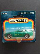 MATCHBOX  PORSCHE 944 TURBO # MB 59 METALLIC GREEN SEALED