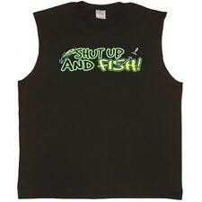 Shut up and Fish funny Fishing Tee Sleeveless T-shirt