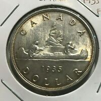 1935 CANADA SILVER DOLLAR NEAR UNCIRCULATED CROWN