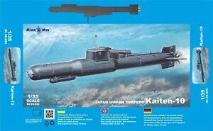 Mikro Mir 35-025 - 1/35 - Kaiten-10 Japan suicide torpedo. Scale model kit