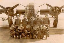 WW2 WWII Photo World War Two USAAF B-24 Liberator Crew Before Mission / 5347