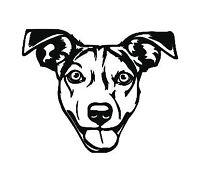 staffie bull terrier heartbeat vinyl decal sticker car phone laptop cup glass