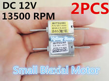 Biaxial Small DC 12V Motor Two Shaft Mini Motor for Project Model Robot Boat DIY