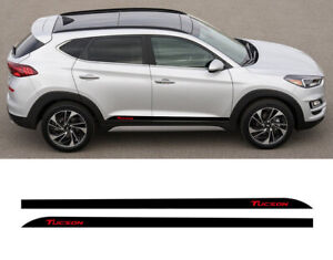 Sport Stripes For Hyundai Tucson 2015-2018 Car Styling Both Side Skirt With Logo