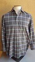 TOM FORD Men's Multi-color Checks Cotton Button Front Long Slv Shirt 118-104A-11