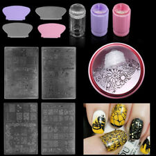 Nail Art Stamping Stamper Kit With Image Plate And Scraper Manicure Tool DIY
