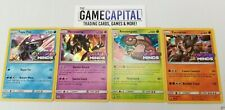 Pokemon Sun & Moon Unified Minds Sm11 Set of 4 Prerelease Promos Cards - Mint/Nm