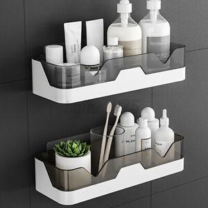 Self Adhesive Shower Shelf Punch-free Bathroom Wall Mounted Caddy Holder Rack