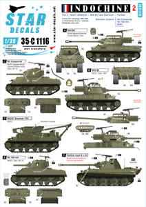 Star Decals 1/35 Indochine Part 2: Heavy Armour decal 35C1116 x