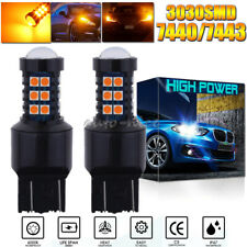 3030SMD Amber 7440 7440A LED Turn Signal Light High Power Upgrade Projector Bulb