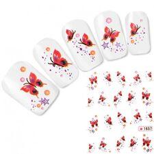 Tattoo Nail Art Aufkleber Schmetterling Stern Nagel Sticker Fingernägel Neu!