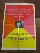 City Lights - Original Movie Poster - Charlie Chaplin