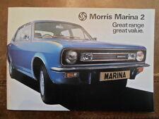 MORRIS MARINA 2 RANGE 1978 UK Mkt Sales Brochure - 3160/G