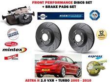 für Opel Astra H 2.0 VXR 2005- > front Performance Bremsscheiben Satz + BELÄGE
