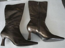 FASHION GENIE WOMEN'S BOOTS SIZE 8 1/2 M LEATHER MADE IN BRAZIL