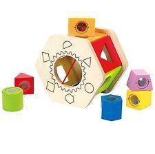 Hape Toys Shake n Match Shape Sorter For Kids Ages 12plus Months E0407 New