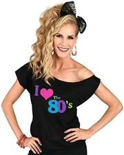 "Vintage ""I Love the 80's"" Costume Retro T Shirt - 1980s Off-Shoulder"