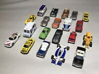 Lot of 20 Vintage Mostly Unbranded Die Cast Toy Cars w/ Corvette, Ford, Impala