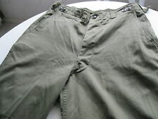 "WWII Korea US M-1943 Field OD Sateen M43 Pants 36"" Waist   Inseam 32"" Originals"
