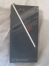 Emerson P3761 AM FM radio  portable handheld telescopic antenna