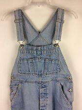 Vtg Gap Blue Denim Jean Bib Overalls Romper Juniors XL Costume Farmer Industrial