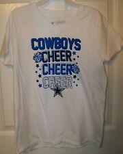 Dallas Cowboys Cheer Cheerleader White Short Sleeve Shirt Girls Size Small 7 NWT