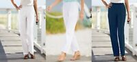 Appleseed's Petites 6P, 8P, 12P Elastic Waist Pull On Pants New Cotton/Poly