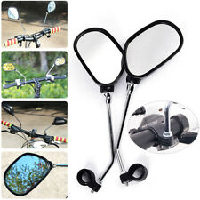 1 PAIR BICYCLE MOBILITY SCOOTER BIKE HANDLEBAR REAR MIRROR WITH SAFETY REFLECTOR