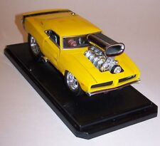 Muscle Machines 69 Hemi Charger DieCast Car 1/24 Scale with Stand Die Cast