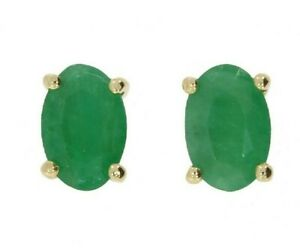 9ct Yellow Gold 1.00ct Emerald Stud Earrings Offers Welcome