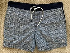 Tommy Hilfiger Mens Swim Trunks Shorts Blue White Red Pattern XL