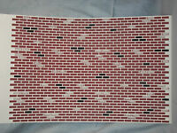 Red Barrel Tile Roof sheet  dollhouse MH5330 1//12 scale formed plastic
