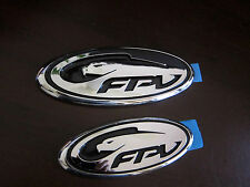 CHROME FPV BADGE FOR GRILL/BOOT-FOR BA/BF/FALCON/FPV/F6/GT/XR6/XR8/TURBO/V8
