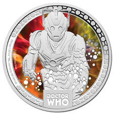 """""""CYBERMEN"""" LIMITED EDITION,SILVER PROOF,3rd In The Series  DR WHO MONSTERS, 2014"""