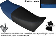 BLACK & ROYAL BLUE CUSTOM FITS YAMAHA FZ 750 85-91 GENESIS LEATHER SEAT COVER