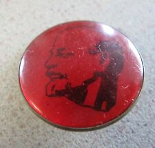 Russian Soviet Political Communist Round Pin Red Large LENIN 1970s В И Ленин