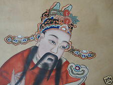 Antique Chinese Scroll God of Fortune C1900