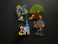 WDW - Four Parks, One World 4 Pin Booster Collection Disney Pin 59722