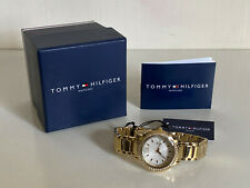 NEW! TOMMY HILFIGER CRYSTALS BEZEL GOLD BRACELET WATCH 1781467 $145 SALE
