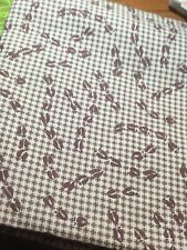 Riverwoods Collection Granola Girls Brown Grid Moose Track Flannel Fabric 2 Yds