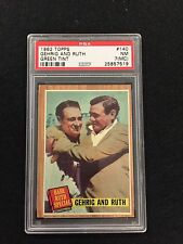 1962 Topps # 140 Gehrig and Ruth ( Green Tint ) PSA 7 (MC)  NM