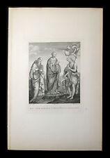 incisione 1800 B.V.ANNUNZIATA S.GIOV.BATTISTA  S.GIROLAMO